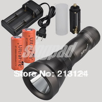 CREE  XM-L T6 LED 1800 LM Diving Flashlight Torch Waterproof Underwater 60M 2*26650 Battery + Charger Free Shipping