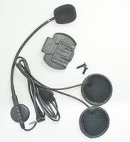 2PCS Headset & Clip Set Accessories for V6-1200M  Bluetooth Helmet Interphone Intercom Jack Plug