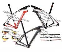 Hot SALE! IN STOCK! LOOK 986 E-Post Mountain bike MTB carbon frame with stem+free handlebar,sunglasses,free shipping.size S/M/L