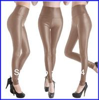 200pcs wholesale Sexy Women imitation Leather Stretch High Waist Leggings pants 4 size