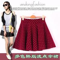 Wholesale manufacturers  women's fashion vintage high waist skirt bust skirt the sun sheds polka dot puff skirt short skirt