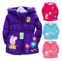 New retail children's coat 100% cotton boy's coat wool winter coat /boy's in the winter coat, Children down jacket