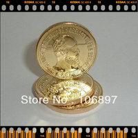 5pieces / lot 1894 Alexander III 10 Roubles Gold clad Replica Russian Souvenir coins