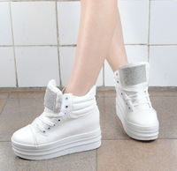Free shipping Platform high lacing casual sports shoes women's four seasons shoes
