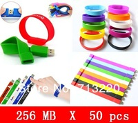 50pcs/LOT X 256MB Wholesale Bracelet Genuine USB Flash Drive USB 2.0 Port USB Flash Drive Wristband Fast Shipping Hot sale!