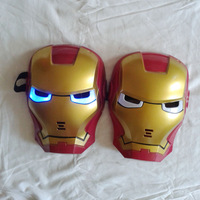 New Led Glowing Light Patriot Hero Iron Man Mask Party Gift Before Done EN71 3pcs Discount