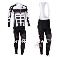 Anyone to choose 2013 New assos Team Black pro Cycling Jersey / Cycling Clothing / Long (Bib) Pants / Set-C1305 Free Shipping!