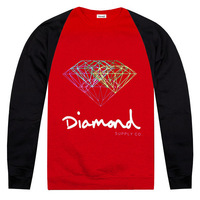 2013 new fashion Pink dolphin Diamond hoodies Men fashion brand hoodies fleece  sportswear baseball jersey