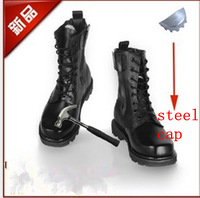 men steel-toe mountain combat boots  male military boots desert  tactical boots puncture proof  Safety shoes steel toe