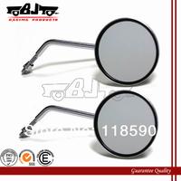 RM-015 Universal Chrome Motorcycle Round Mirrors For Honda Suzuki Yamaha 8mm 10mm Screw