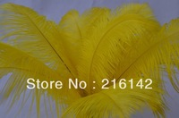 FREE SHIPPING Wholesale 50pcs/lot 12-14inches(30-35cm) Yellow Ostrich Feathers for Centerpieces Home Decor