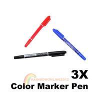 R1B1 Best New 3pcs X3 Color CD-R DVD-R Media Disc Marker Pen