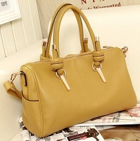 2013 Women Handbag Fashion Lychee Rivets Bucket Bag Vintage Shoulder Bag Female Tote Bags Leather Messenger Bag Bolsa