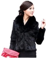 2013 women's  new year clothes winter coat  fur short design  fur coat leather overcoat