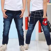 2015 trend 2-10T child baby boy denim trousers  children's pants jeans kids boy harem spider net pants  bottoms