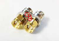 Free shipping 10pcs/lot RF adapter BNC connector SMA male to BNC female straight