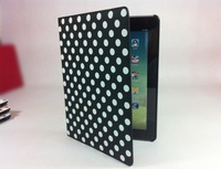 Lovely  dot style case for the ipad protective sleeve ,free shiping