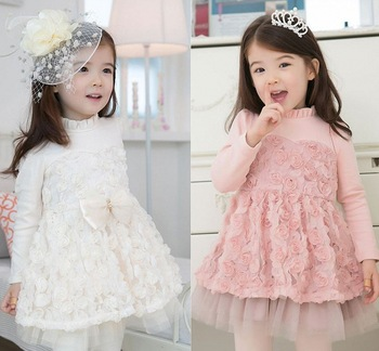Free Shipping Children's clothing retail 2013 new Spring and Autumn girls  dress children princess  dress pleated