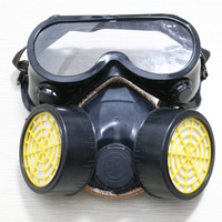 Gas Chemical Anti-Dust Paint Respirator Active Carbon Mask + PVC Glasses Set