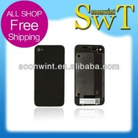 50% off low price for iphone 4 back cover (with logo)  + good quality + Free shipping by DHL