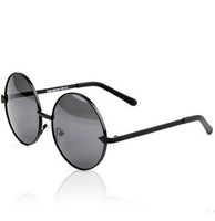 Unisex Retro Sunglasses Round Box  Fashion Sunglass  Arrow  Design Sun Glasses With Box  Black