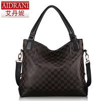 New 2014 mother bag genuine leather women's leather handbag vintage totes cowhide shoulder bag designer handbags messenger bags
