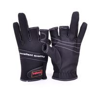 Free shipping Quality three fingers Trulinoya Fishing gloves  slip-resistant gloves fishing gloves lure gloves