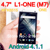4.7 inch L1-ONE (M7) Android 4.1.1 MTK6515 Smart Phone Capacitive Screen WIFI Unlocked With 4GB Mobile Phone