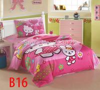 New 2014 Cartoon Princess children bedding duvet cover set,100% cotton twin 3pcs Bedding Set,bedclothes,pillow cover