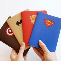 korea stationery fresh stitch book notepad notebook a6 super hero theme