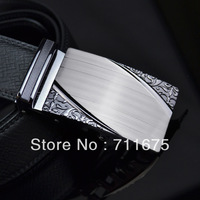 Q226 Hot sale Commercial strap genuine leather male automatic buckle belt check fashion cowhide waist of trousers belt