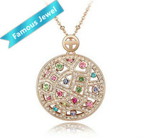 Sell like hot cakes 18k gold plated Pendant Exquisite Workmanship Free Shipping