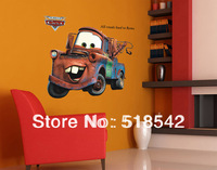 Free Shipping:60*90CM Large Classic Vintage Car Car Cartoon Transparent PVC Wall Decals/Wall Mural PVC Wall sticker Room Decor