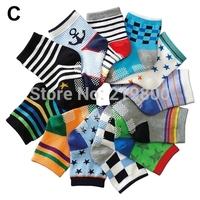 Popular Cartoon baby socks Antislip baby boys hosiery 1-3T infant cotton socks 12 pairs/lot ( 1--3years old baby)