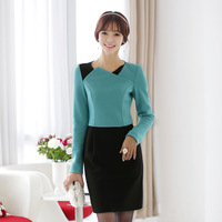 2014 fashion slim lady wool occupation high-grade atmosphere during the spring and autumn dress