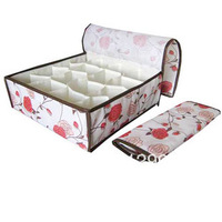 High Quality 16 20 Case Non-Woven Storage Box Foldable Storage Box For Bra,Underwear,Necktie,Socks/ Free Shipping