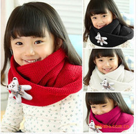 Free shipping New arrival 1pcs ring  yarn  child baby scarf winter thermal bear scarf muffler