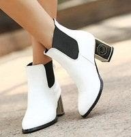 Sep-2013 Autumn new style woman  fashion short boots/high heels female/ladies skull heel ankle Martin boots free shipping