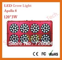 360w grow light  Apollo 8 120x3W LED Plant Grow Light Red Blue Color