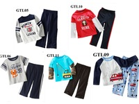 FREE brand 2013 new YEAR Christmas cotton kids clothes child blouse sport clothing sets for baby BOY  long sleevet+ pants