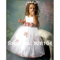 new 2014 pageant gowns kids dress flower girl dresses for wedding  (size 2-8year)