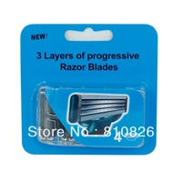 16pcs/lot Generic M3 Razor Blades  3 Layers Stainless Blades  For man 4 Cartridges/pack