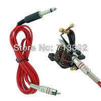 3Pc/lot Tattoo Gun Machine RCA Plug Clip Cord Kit ( Red)