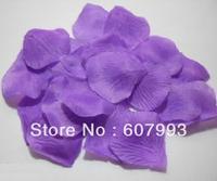 4000pcs/lot purple silk petals wedding rose petals , artificial fabric petals ,wedding party decoration flower, free shipping