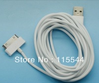Free Shipping  High quality 3M USB Charger Cable for iphone 4 4s - White in stock