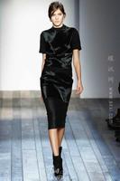 Free Shipping 2013 Autumn Winter Top Grade Fashion Runway Black Twinset Black Suits Women