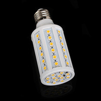 New E27 Warm White 5050 SMD 60 Led Corn bulb lamp Beads AC200-265V 900Lm 10W