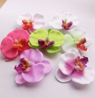 Mixed color artificial butterfly orchid Flowers Silk Decoration Flowers Head 50pcs/lot