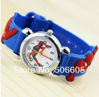 Free & Drop Shipping! black Spiderman 3D Cartoon Children Boys Kids Quartz Watches Wrist Watches Gift