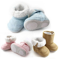 2014 New Fashion Super Warm Winter Baby Ankle Snow Boots Infant Shoes Pink Khaki Antiskid Keep Warm Baby Shoes First Walkers
